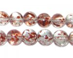 12mm Rose Spray Glass Bead, approx. 18 beads