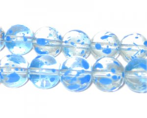 12mm Forget-me-not Spray Glass Beads, approx. 18 beads