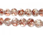 10mm Rose Spray Glass Beads, approx. 21 beads