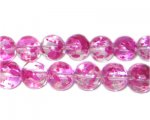 10mm Geranium Spray Glass Beads, approx. 21 beads