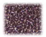 11/0 Plum Silver-Lined Glass Seed Beads, 1 oz. Bag