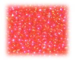11/0 Red Transparent Rainbow Glass Seed Beads, 1 oz. Bag