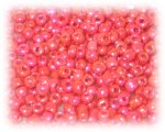 11/0 Strawberry Red Luster Glass Seed Beads - 1 oz. Bag