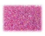 11/0 Fuchsia Rainbow Luster Glass Seed Beads - 1 oz. Bag
