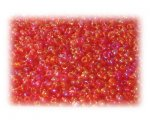 11/0 Strawberry Red Rainbow Luster Glass Seed Beads - 1 oz. Bag