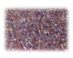 11/0 Violet Rainbow Luster Glass Seed Beads - 1 oz. Bag