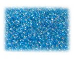 11/0 Turquoise Rainbow Luster Glass Seed Beads - 1 oz. Bag
