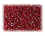 11/0 Red Silver-Lined Glass Seed Beads - 1 oz. Bag