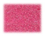 11/0 Hot Pink Inside-Color Glass Seed Beads - 1 oz. bag