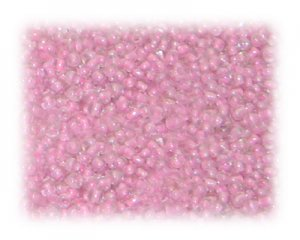 11/0 Baby Pink Inside-Color Glass Seed Beads - 1 oz. bag