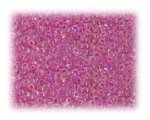 11/0 Hot Pink Rainbow Luster Glass Seed Beads - 1 oz. Bag