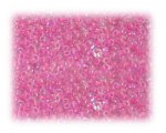 11/0 Deep Pink Rainbow Luster Glass Seed Beads - 1 oz. Bag