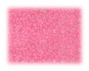 11/0 Neon Pink Inside-Color Glass Seed Beads - 1 oz. bag
