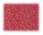11/0 Red Frosted Rainbow Glass Seed Beads - 1 oz. Bag