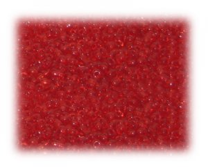 11/0 Light Red Transparent Glass Seed Beads - 1 oz. bag