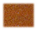 11/0 Rich Orange Rainbow Luster Glass Seed Beads - 1 oz. Bag