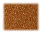 11/0 Light Orange Rainbow Luster Glass Seed Beads - 1 oz. Bag