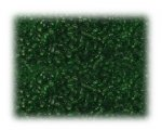 11/0 Dark Green Transparent Glass Seed Beads - 1 oz. bag