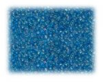 11/0 Deep Turquoise Rainbow Luster Glass Seed Beads - 1 oz. Bag