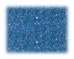 11/0 Pale Blue Rainbow Luster Glass Seed Beads - 1 oz. Bag
