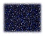 11/0 Dark Blue Transparent Glass Seed Beads - 1 oz. bag