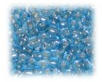 6/0 Turquoise Silver-Lined Glass Seed Beads, 1 oz. Bag