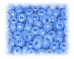 6/0 Blue Opaque Luster Glass Seed Beads, 1 oz. Bag