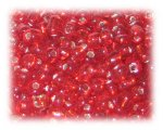6/0 Red Silver-Lined Glass Seed Beads, 1 oz. Bag