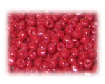6/0 Brick Red Opaque Glass Seed Beads, 1 oz. bag