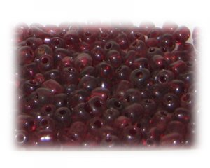 6/0 Brown Transparent Glass Seed Beads, 1 oz. bag