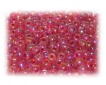 6/0 Red Rainbow Luster Glass Seed Beads, 1 oz. Bag
