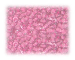 6/0 Baby Pink Inside-Color Glass Seed Beads, 1 oz. bag