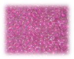 6/0 Deep Pink Inside-Color Glass Seed Beads, 1 oz. bag