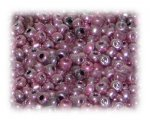 6/0 Dusty Pink Metallic Glass Seed Beads, 1 oz. bag