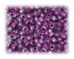 6/0 Bright Purple Metallic Glass Seed Beads, 1 oz. bag