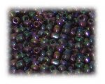 6/0 Plum Rainbow Luster Glass Seed Beads, 1 oz. bag