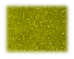 6/0 Rich Yellow Transparent Glass Seed Beads, 1 oz. bag