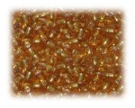 6/0 Gold Silver-Lined Glass Seed Beads, 1 oz. bag