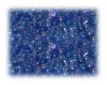 6/0 Dark Turquoise Rainbow Luster Glass Seed Beads, 1 oz. bag