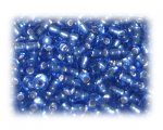 6/0 Sky Blue Inside-Color Glass Seed Beads, 1 oz. bag