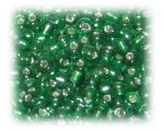 8/0 Dark Green Silver-Lined Glass Seed Beads, 1 oz. Bag