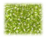 8/0 Apple Green Silver-Lined Glass Seed Beads, 1 oz. Bag