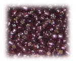 8/0 Plum Silver-Lined Glass Seed Beads, 1 oz. Bag