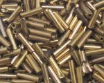 7 x 2mm Deep Gold Bugle Bead, 1 oz. bag