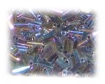 7 x 2mm Black Luster Bugle Bead, 1 oz. bag