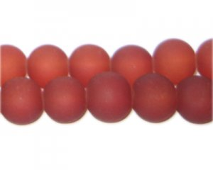 12mm Cinnamon Sea/Beach-Style Glass Bead, approx. 18 beads