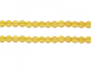 6mm Apricot Sea/Beach-Style Glass Bead, approx. 48 beads
