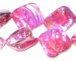 14 - 21mm Bubblegum Irregular Diamond Luster Shell Bead