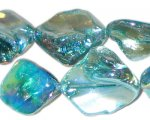 14 - 21mm Turquoise Irregular Diamond Luster Shell Bead
