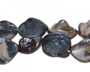 14 - 21mm Smokey Irregular Diamond Natural Shell Bead